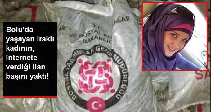 Iraklı Kadın, Yardım Olarak Aldığı Kömürleri İnternetten Satışa Çıkardı
