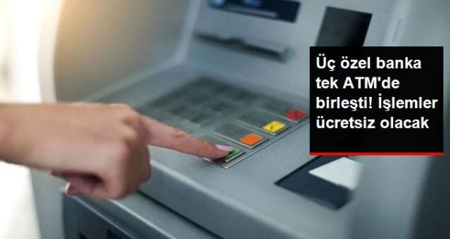 DenizBank, QNB Finansbank ve TEB, tek ATM'de birleşti