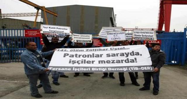 Tersane işçileri Taşeron çalışma yasaklansın