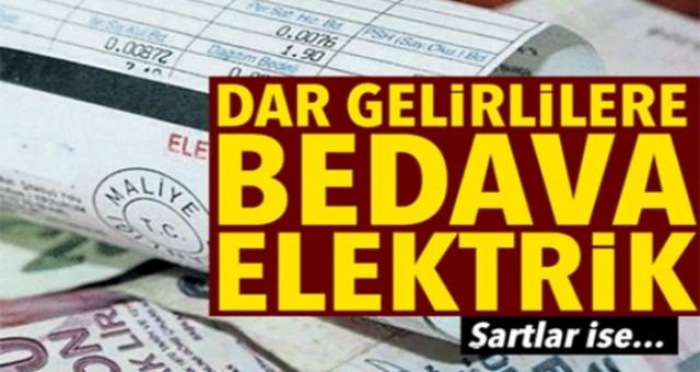 Dar gelirliye elektrik desteği