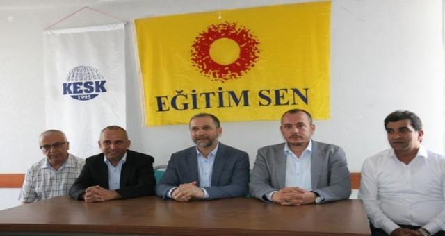 AK Parti Milletvekili Eğitim Sen'i ziyaret etti: Hatamız varsa geri adım atarız