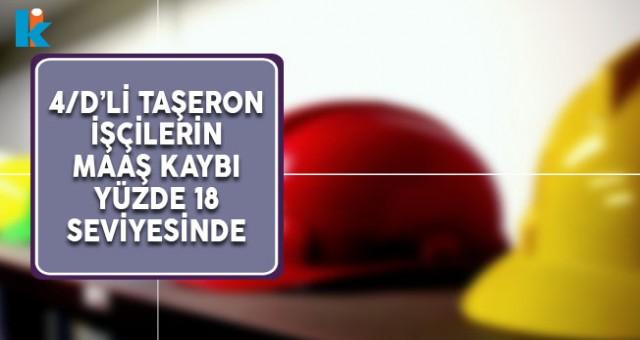 Kamuda Kadrolu Çalışan 4/D'li Taşeron İşçilerin Maaş Kaybı