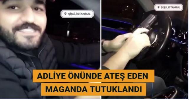 İstanbul Adliyesi önünde ateş eden maganda tutuklandı