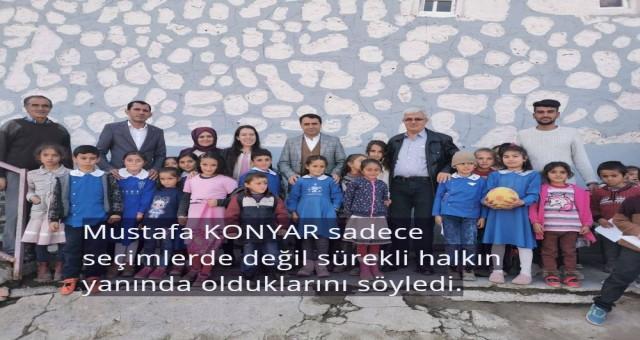 AK Parti İlçe Başkanı Mustafa Konyar, Doğubayazıt'a bağlı tüm köyleri ziyaret etmeyi hedefliyor