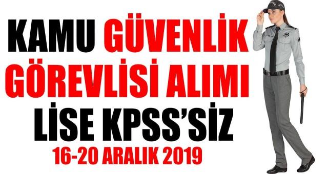 Tarsus Üniversitesi KPSS'siz 6 kamu güvenlik görevlisi alımı yapıyor