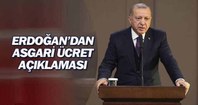 Cumhurbaşkanı Erdoğan'dan asgari ücret yorumu