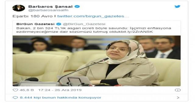 Asgari ücreti açıklayan Bakan Selçuk'un eşarbının fiyatını Şansal açıkladı