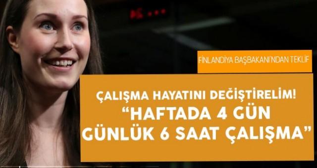 Başbakanı Sanna Marin, 4 Gün Çalışma Sistemini Teklif Edecek