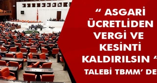 CHP asgari ücretteki vergi yükünün kaldırılması için kanun teklifi verdi