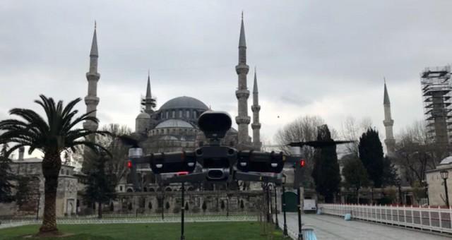 İstanbul'da ilginç uygulama! Polis drone ile Corona Virüsü uyarısı yapıyor