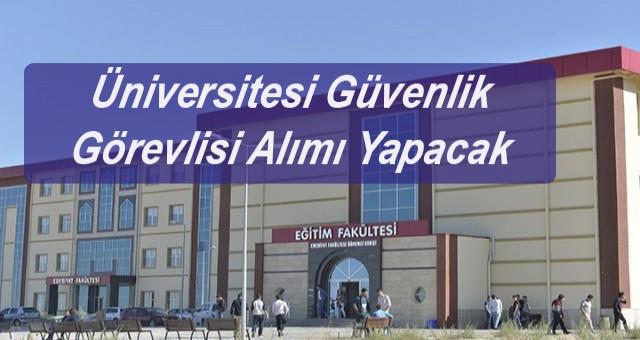 Üniversitesi 132 personel alımı yapıyor