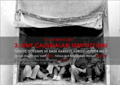 TÜRKİYE'DE İŞÇİ SINIFI VE EMEK HAREKETİ KÜRESELLEŞİYOR