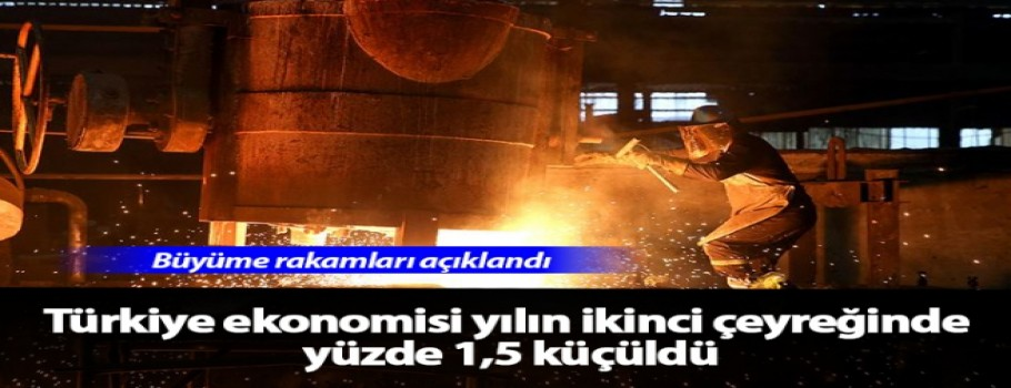 Türkiye ekonomisi yılın ikinci çeyreğinde yüzde 1.5 daraldı
