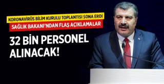 Sağlık Bakanı Koca açıkladı: 32 bin personel alacağız.