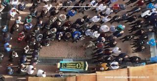 Trafik kazasında ölen güvenlik görevlisi için tören yapıldı